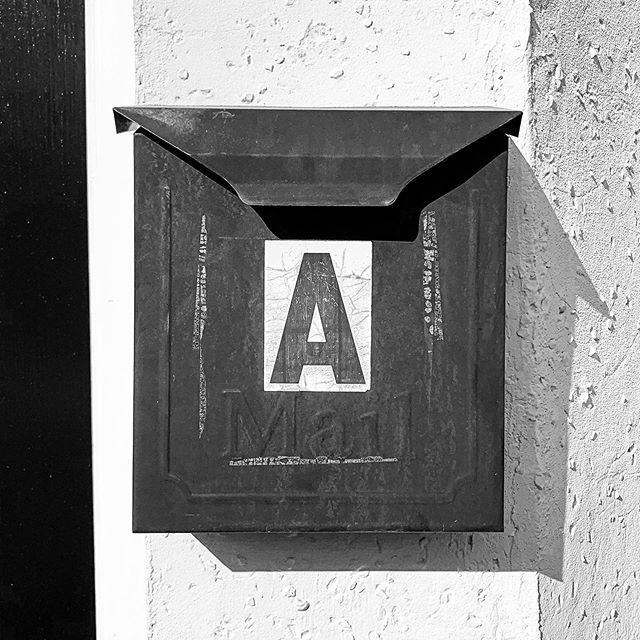 Despite our transformed existence into a digital world, there's still something incredibly special about swinging open the letter box lid to retrieve a handwritten card, letter, or note. #time #paper #post #write #people #box #today #tomorrow