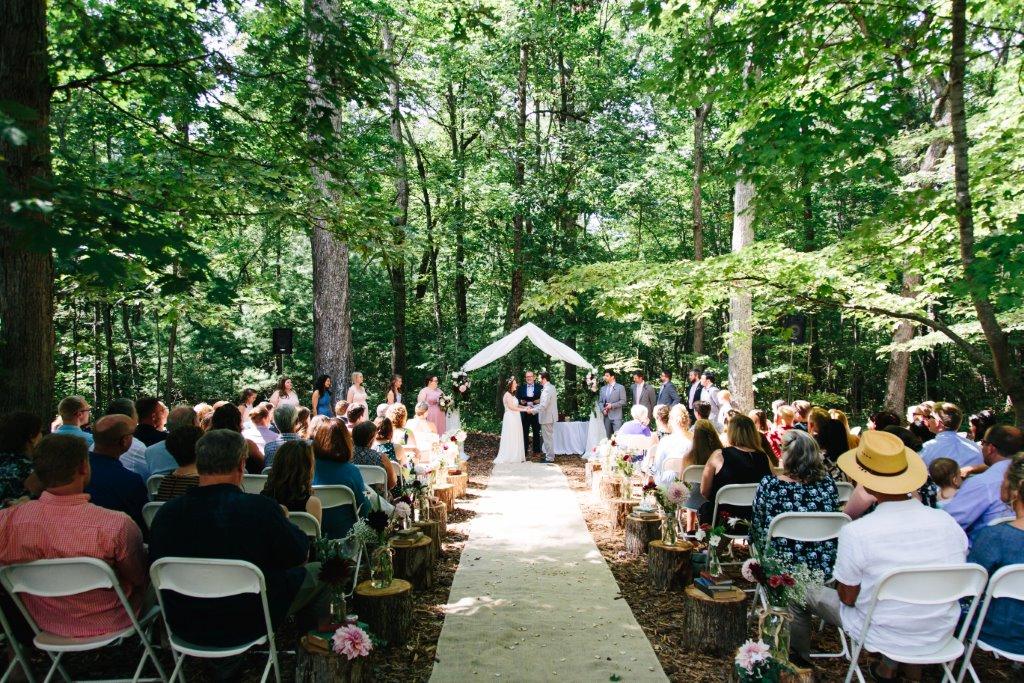 outdoor wedding venue wnc