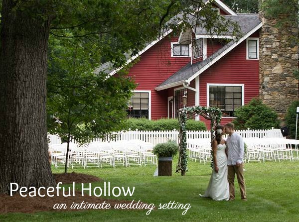 PEACEFUL HOLLOW  Intimately surrounded by the Blue Ridge Parkway and minutes from the heart of Asheville, Peaceful Hollow offers a charming, rustically elegant venue for weddings and elopements.    More Information     Leave a Review