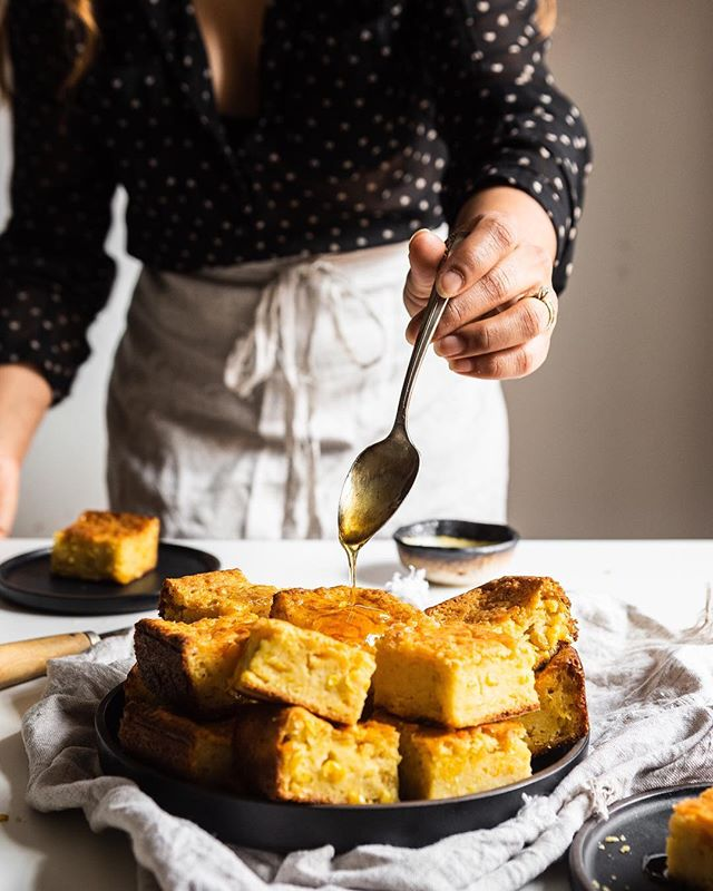 My weekend involved baking this Life Changing Corn Bread from @husbandsthatcook's new book! So delicious, that we ate the whole batch! 😆 It's an amazing book with so many mouth watering recipes written from the heart. Tap link in profile to get your copy! . . . . #baking #weekbaking #cornbread #husbandsthatcookbook #corn #bakinginspo #bakinginspiration #feedfeed #cookinglight #foodphotography #foodstyling #heresmyfood  https://www.amazon.com/Husbands-That-Cook-Irresistible-Vegetarian/dp/1250151546/ref=nodl_
