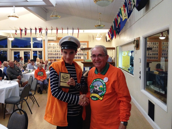 Captain Dillon Receiving His 2018 Olympia Harbor Days Plaque (OHD Stock Photo)