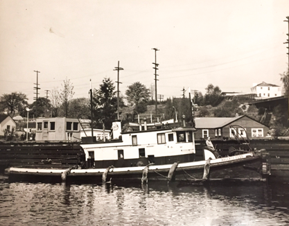 Wallace Foss Circa 1934 - cropped image from Foss Maritime Company Archives