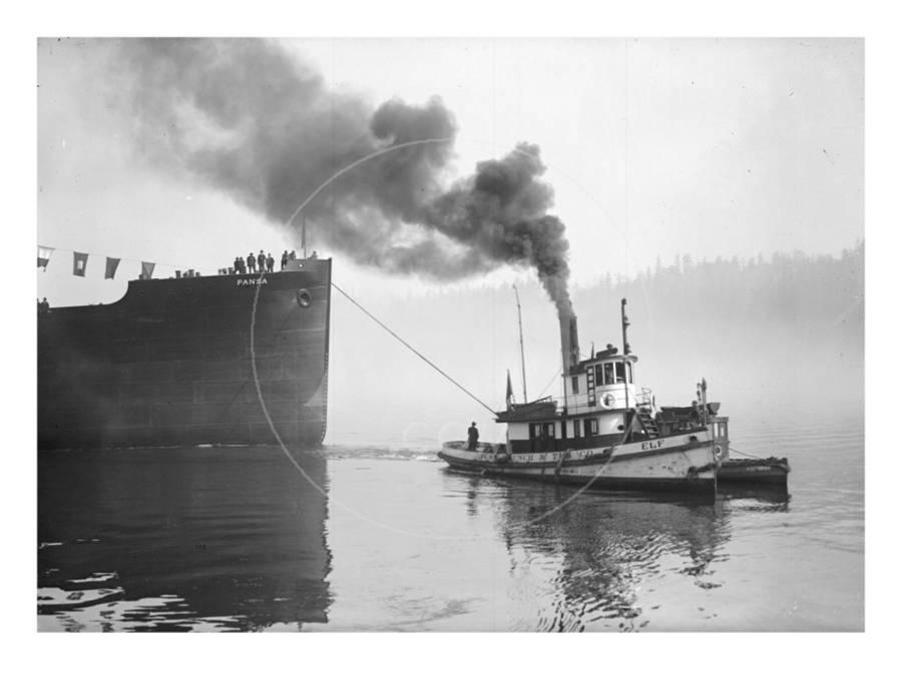 Tug ELF Hauling The Pansa Through the Thea Foss Waterway (AKA City Waterway). Marvin Boland Photographer