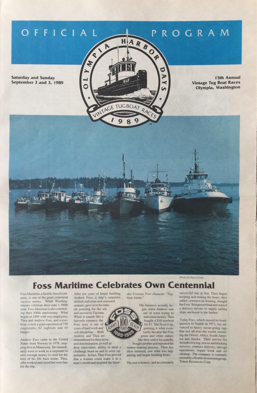 Olympia Harbor Days Program 1989
