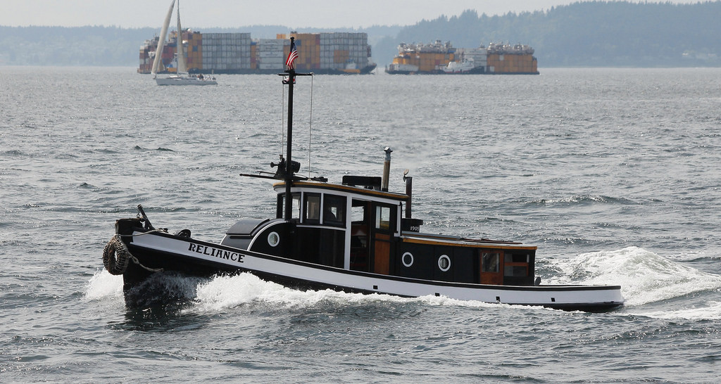 Tug RELIANCE 2011 in Seattle.  Photo courtesy of lg evans Maritime Images