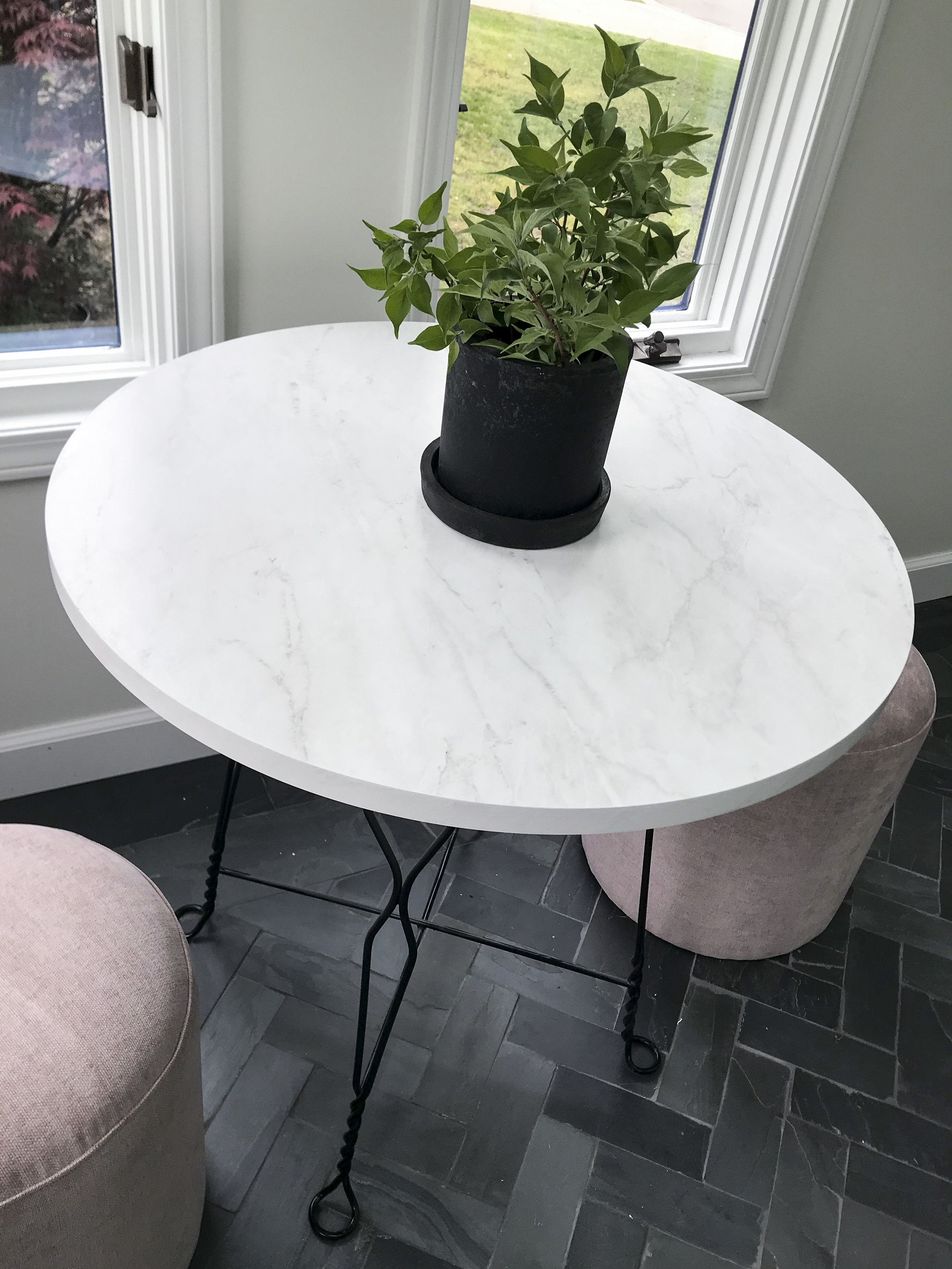 Bistro Table Faux Marble Top.jpg
