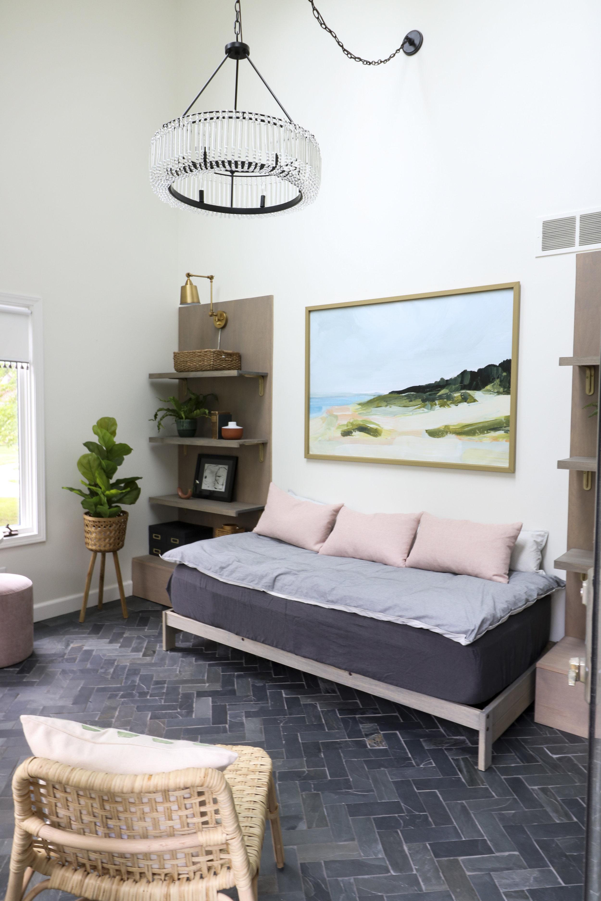 Chandelier  |  Slate Tile