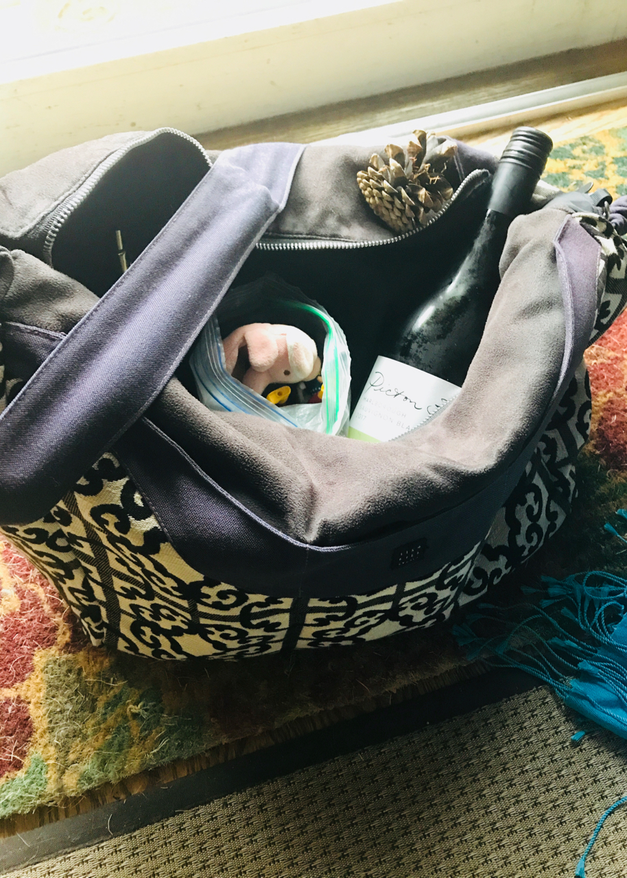 - My diaper bag, ready for a mom-tastic day!