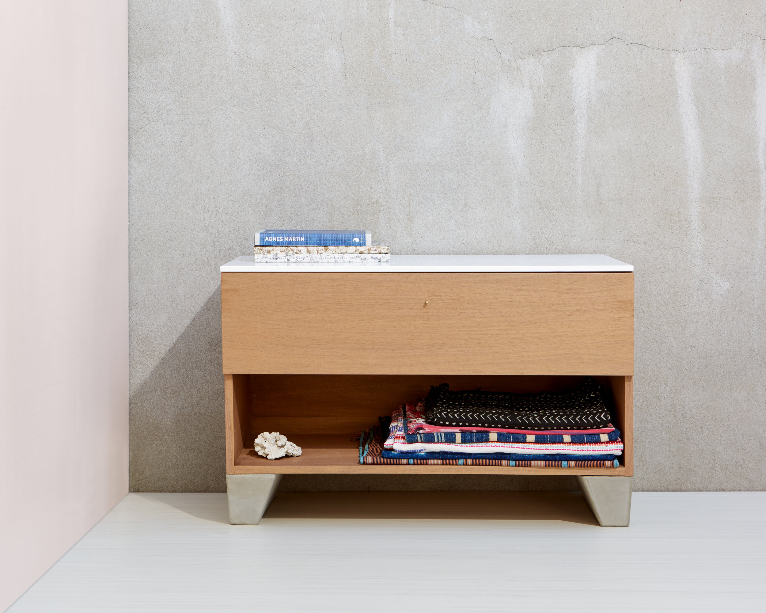 Rue Neuve Collection: Double Geode with Single Drawer