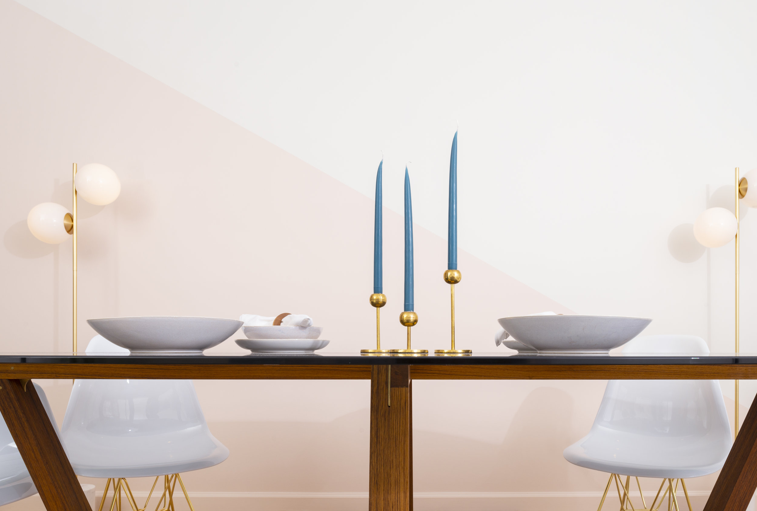 Table Spread, Nuevo Collection: Trapezoid Table (Large)