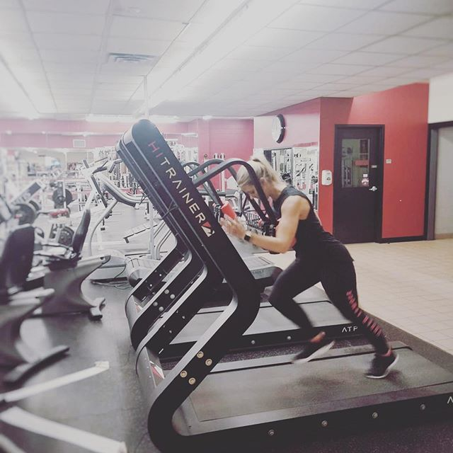 Repost @krysteldallas ・・・ Taking advantage of some of the specialized equipment we have at the Cambrian Athletic Centre. The HiTrainer is a wicked assessment tool that helps to train speed, power, balance and anaerobic endurance. It even tells you which leg you're favouring! Which is really cool. . . A lot of my weekday runs happen in the gym, on my lunch hour, on the machines. When that's the only time of day I can schedule them in, sometimes I just don't have a choice but to use the treadmill (due to weather and the fact that I need to be in a condition to return to my desk afterwards). This machine can help on days where I incorporate speed training and can even help with hills by activating a specific muscle set you don't hit with the regular treadmill, even on an incline. It's a non-motorized treadmill so you're using your own power and really digging in. . . It's super fun, if you haven't tried it yet, you should. Just bring water and maybe a towel 😅😂😭 . . . . #cambriancollege #hitrainer #anaerobic #speedtraining #sprints #hitthegym #intervals #maxpower #treadmill #treadmillworkout #run #runningtools #funworkout #activelifestyle #fitlife #trainingrun #makeitfun #yogiswhorun #runningyogi #hardwork #sweat #gunsout #fitnesstrainer #sudburyfitness