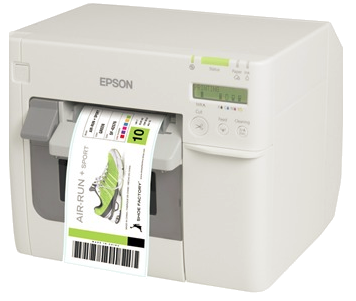Printer: Epson TM 3500 - Prints labels on demandFull colorWater and fade resistant printsEasy to use 4-color links