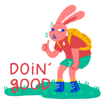 Doin' Good Sticker,  Procreate Digital Illustration created exclusively for Snapchat, 2019