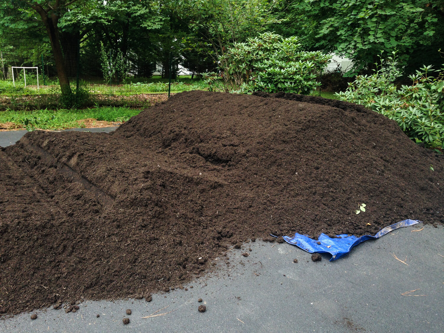 10 cubic feet of compost from Mulch and Stone, from 2016.