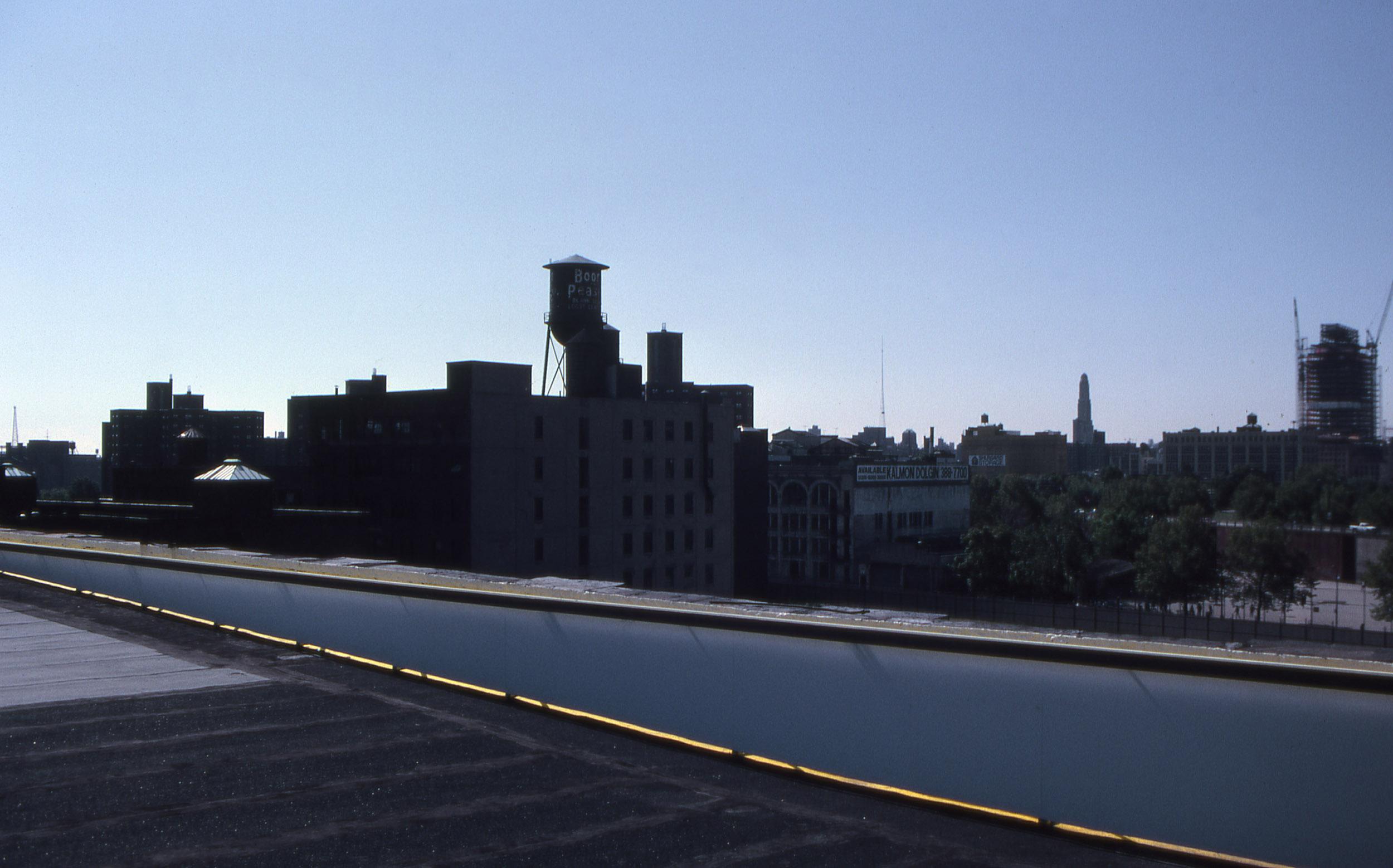 Roof Run , 1991   Studio roof, Brooklyn, NY