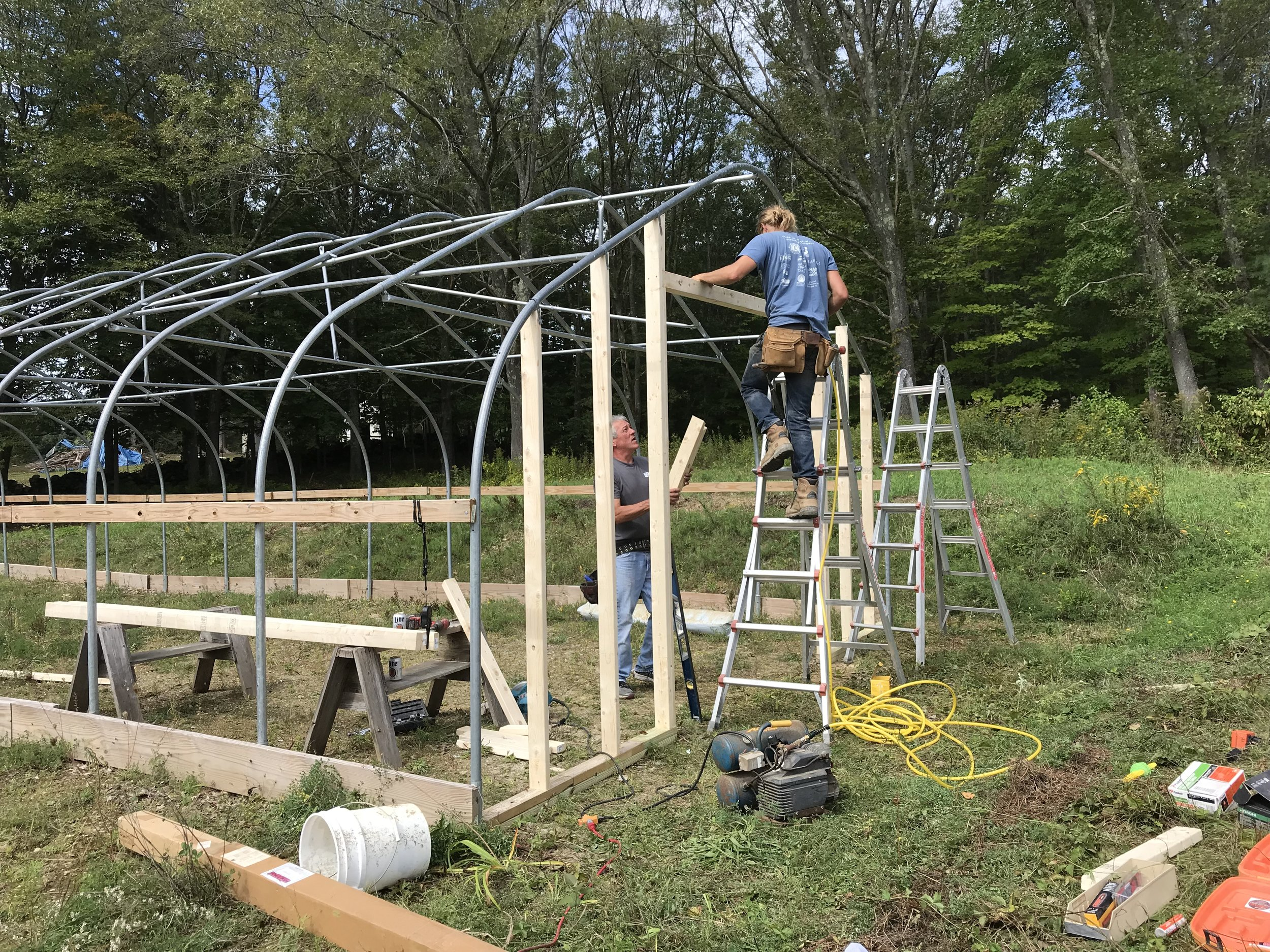 2018 Greenhouse Endwall Construction