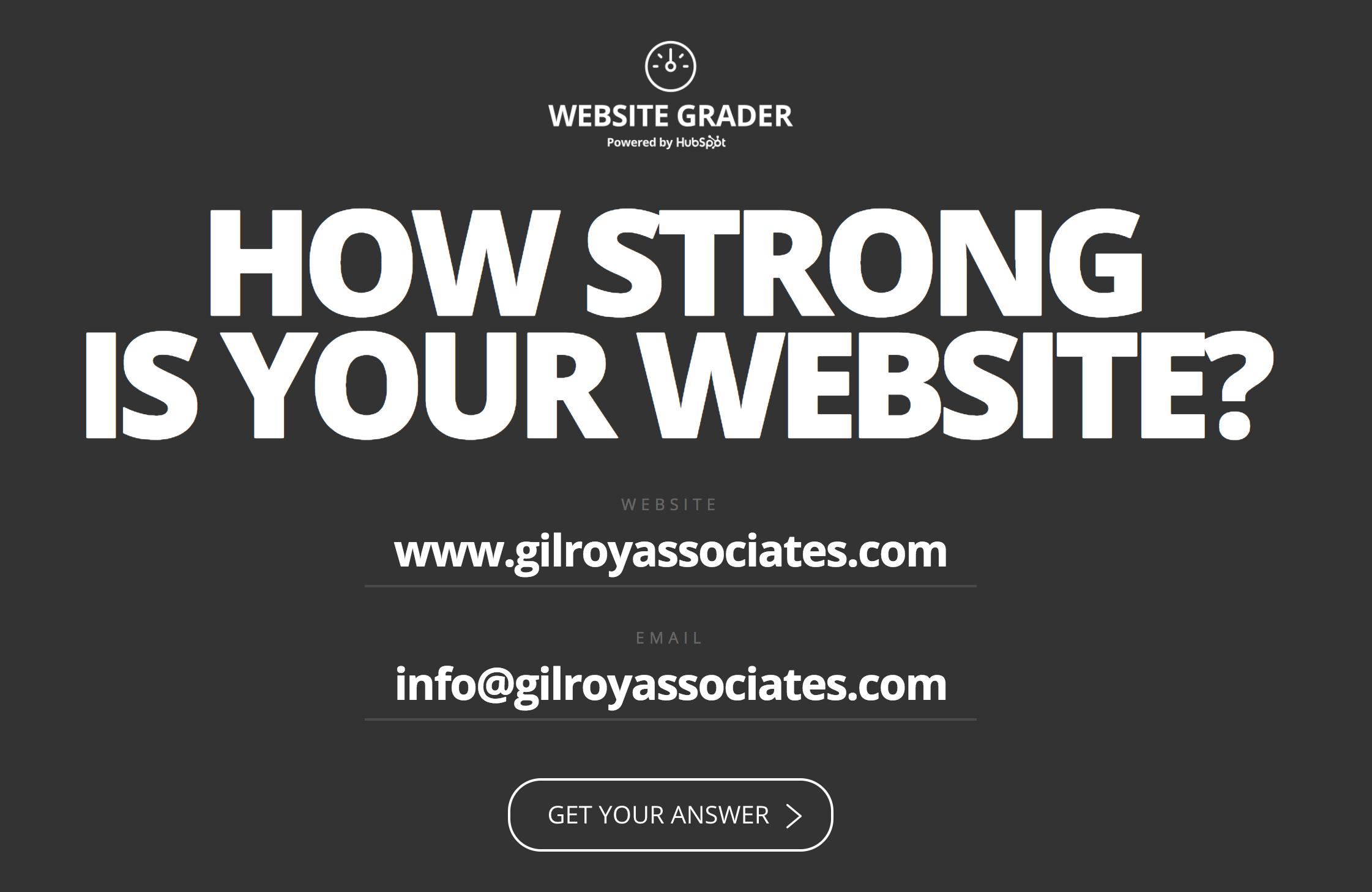 Website Grader - Gilroy Associates