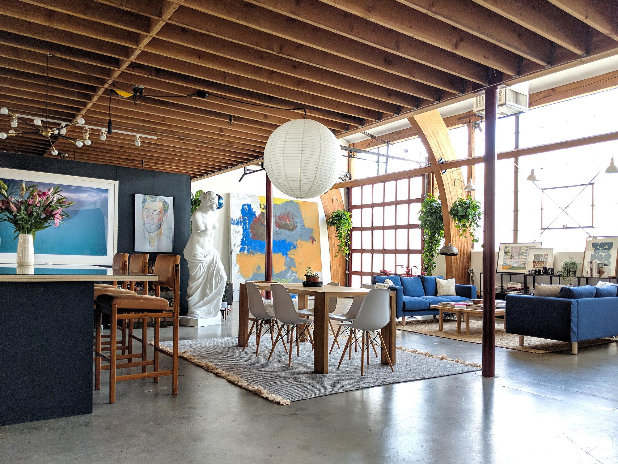 Inside our 2,000 square foot Silverlake photo studio.