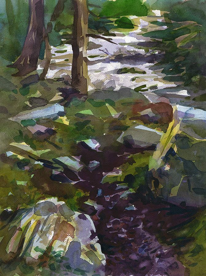 """Puddle"" (Catoctin Mountain Park, MD- National Parks Artist in Residence program) 12"" x 16"", 2016 Available- please inquire"
