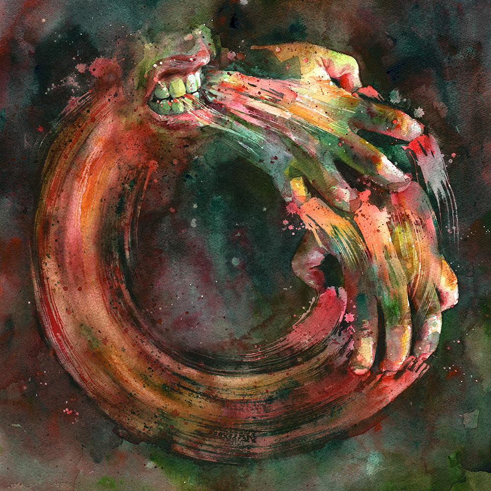 Ouroboros (Note that because this image is a square, it's a bit smaller on the page than most of the other prints)