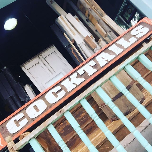 Are you ready for some football?  Cocktails and Defense. That's what wins championships. #cocktails #cocktailsanddefense #salvage #architecturalsalvagesd #architecturalsalvage #sandiego #littleitalysd #wearethechampions
