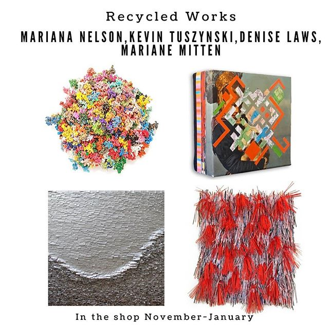 🍂TONIGHT!! After the Sip & Stroll, stop by to meet Bay Area artists featured in the shop over the holidays! 5-7p  @deniselaws @mariana.nelson @mariannemitten and Kevin Tusnyski upcycle materials to bring us incredibly creative works of art!  Hope to see you there!!! 🥰