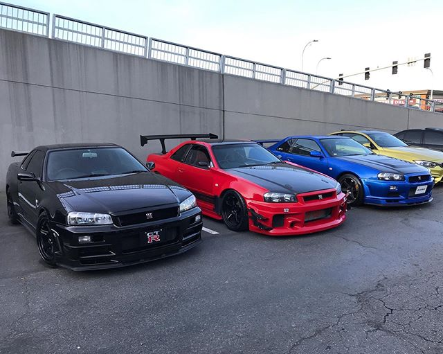 Here are some of the pictures from the season opener of @exoticsatrtc yesterday. The CarMeets team took the R34s and added some diversity to the mix.