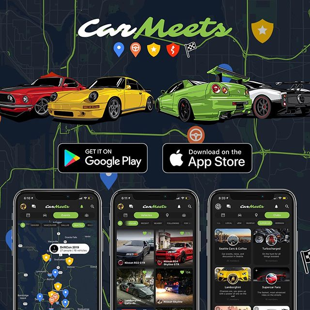The team is moving fast and developing new and improved features coming soon! Up next, the feed gets a large overhaul 📰 Stay tuned and invite your friends to join! #carmeets #app #downloadnow