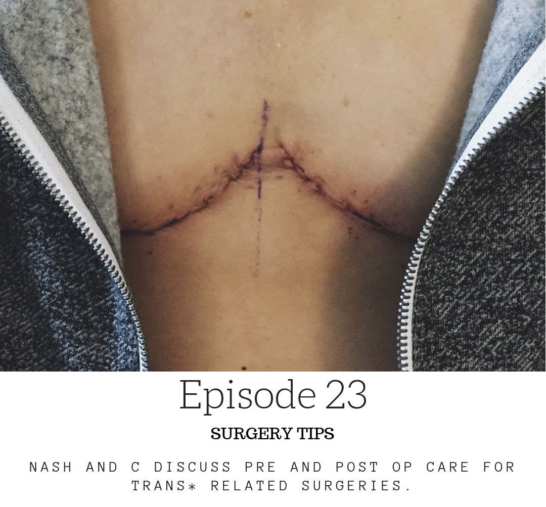 Surgery Tips. - Nash and C discuss pre and post op care. What it is, what to expect, how to prepare, and some things we wish we would have done differently.We also have an accompanying blog post (check it out here!) of general tips, and a list of supplies you may find yourself needing!As always, please share your own tips and any items you found helpful during recovery!To listen to this episode, please visit us on itunes, podbean or stitcher