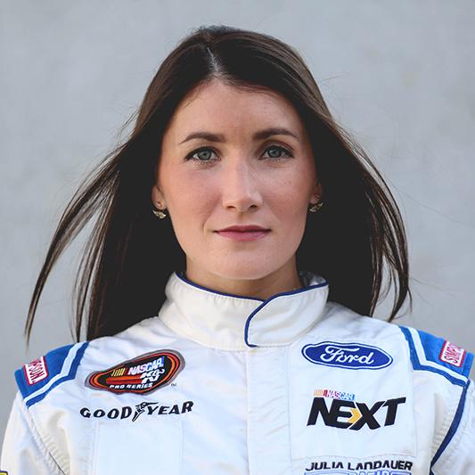 JULIA LANDAUER - NASCAR CHAMPION