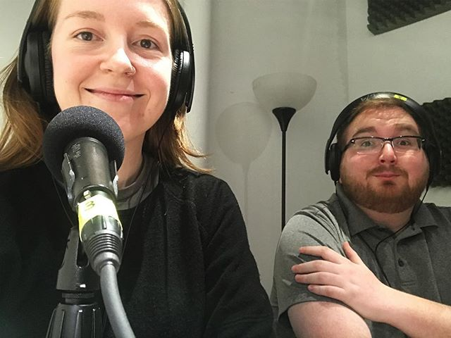 Recording a radio segment for Soundspace on WAYO Rochester this afternoon :) We talked about @unpitched_newmusic and shared some recordings from our previous events and composers we love 💜 The episode will be airing next week, so check back here for details! . . . . . #radio #percussion #newmusic #composers