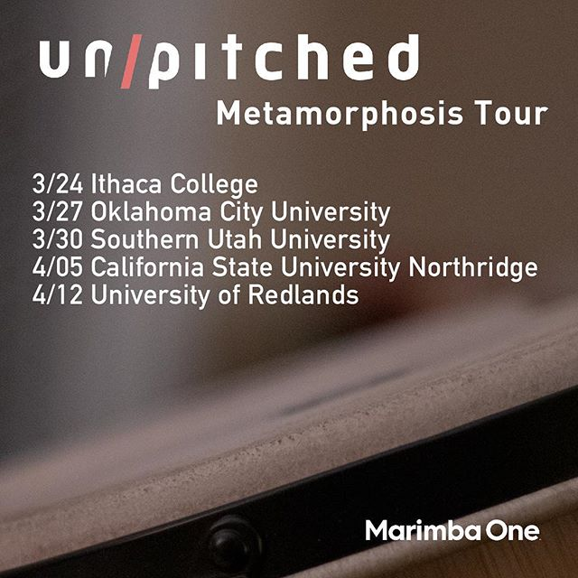 I'm so excited to see this project finally come to fruition. Visit us at one of these schools to hear performances of 4 recently-commissioned vibraphone works and talks on project building and new-music performance techniques. Next up, Oklahoma City University! . So many thanks to my colleagues at @unpitched_newmusic and @marimbaoneofficial for making this project possible :) :) . . #vibraphone #percussion #unpitched #composer #composersofinstagram #newmusic #network