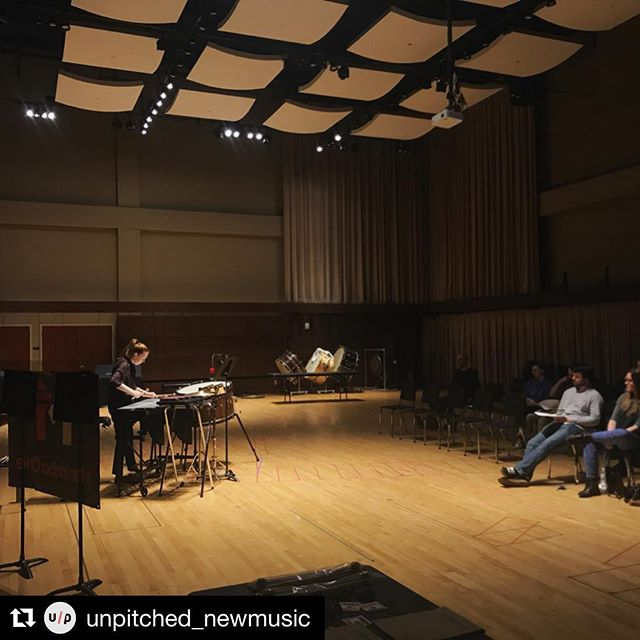 #Repost @unpitched_newmusic with @get_repost ・・・ Wow! We had such a great day at Oklahoma City University! We met some really amazing students, many of which were both composers AND percussionists!! Thank you for having us, what a special day! . 🎵 @lindsey_plays_percussion @dallasjhoward @marimbaoneofficial @unpitched_newmusic @oklahomacityuniversity 🎵 . . . #vibraphone #newmusic #percussion #percussionist #composition #composer