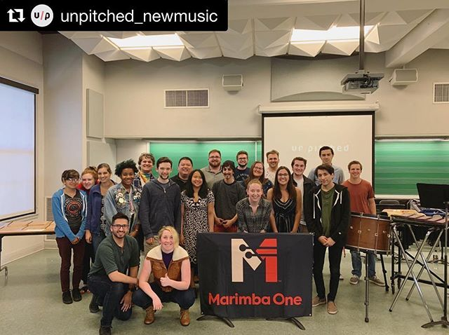 #Repost @unpitched_newmusic with @get_repost ・・・ Once again a great presentation of our Metamorphosis project, this time at University of Redlands!! . It is always so fulfilling to meet such inspired young composers and percussionists, and to hear their well informed questions and share our insight! . Our last show is this week at Santa Monica College (4/12) you don't want to miss it! . The Metamorphosis project would not be possible without percussionist @lindsey_plays_percussion, composer @dallasjhoward, and @marimbaoneofficial. . . . #percussion #vibraphone #composers #composersofinstagram #newmusic #musiceducation #percussionist #composer