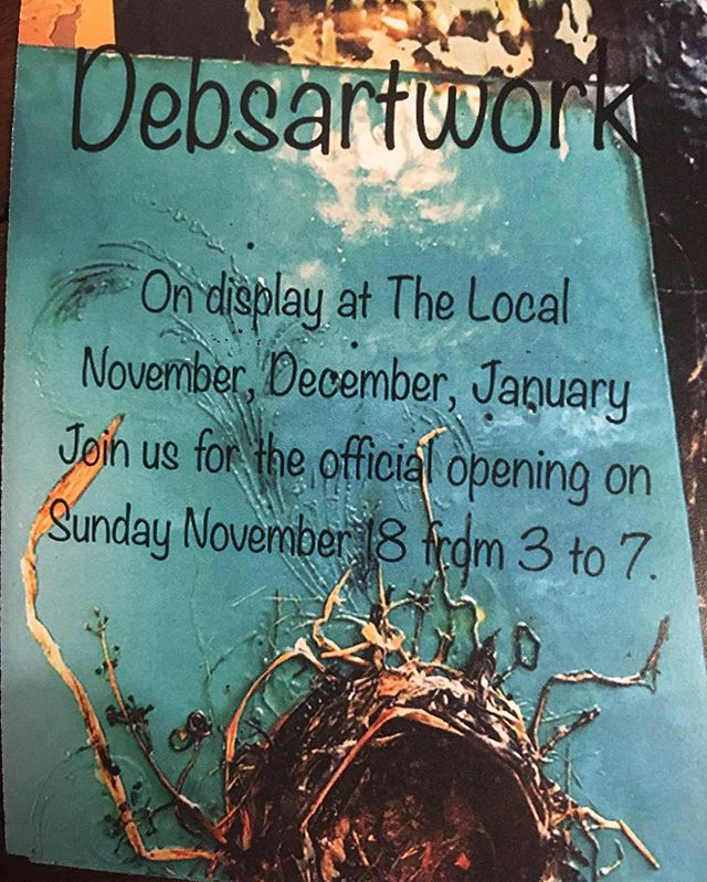 Join us for Debs showing of her Newest Amazing Encaustic Paintings with live music & oh yes it's Autums 21st Bday! Next Sunday Nov 18 at the Local on Roncessvalles 🎼🎁🍺🌈🍺🎂🎈👯🍾