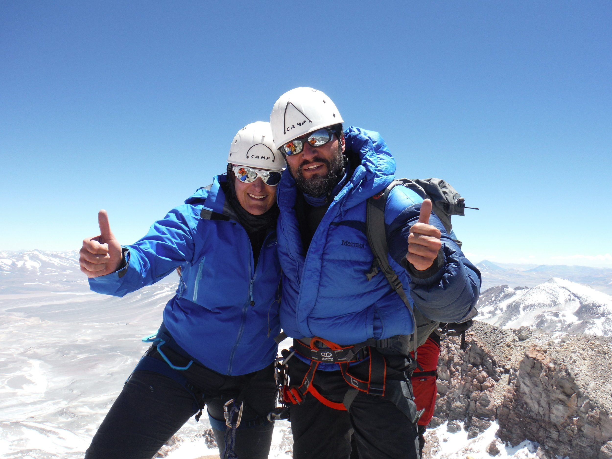 Klatre til topps i Andesfjellene