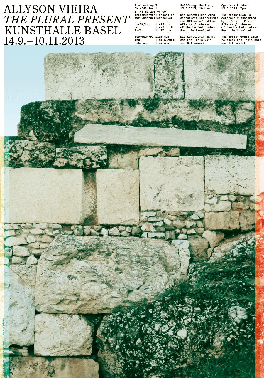 Kunsthalle Basel, poster for Allyson Vieira