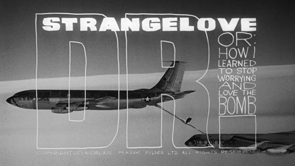 Ferro designed the titles for Stanley Kubrick's  Dr. Strangelove or: How I Learned to Stop Worrying and Love the Bomb (1964).