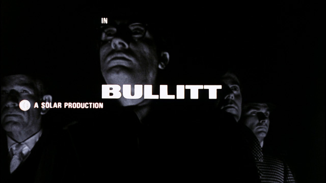 Ferro designed the iconic title sequence for  Bullitt  (1968).
