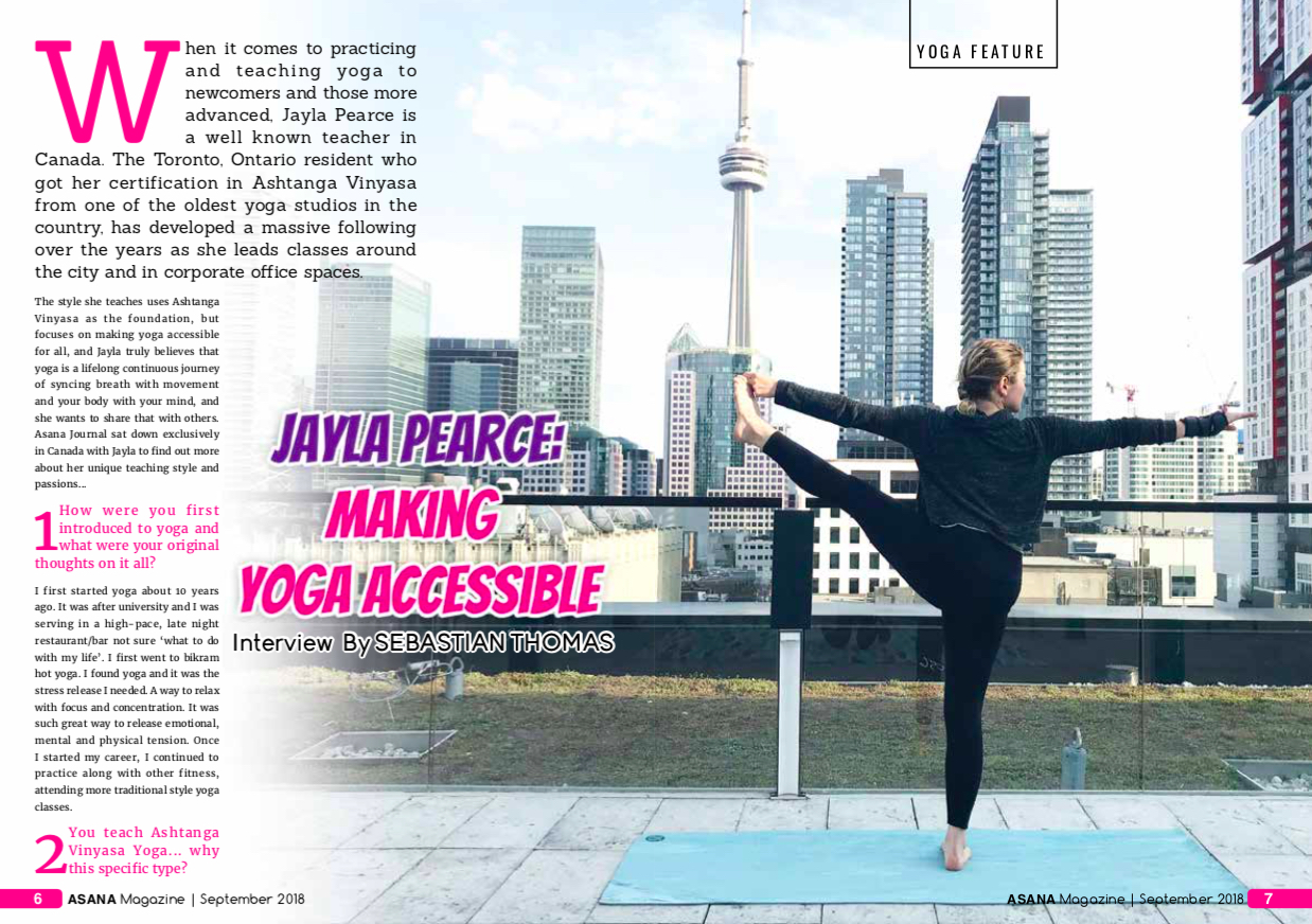 jayla pearce yoga feature in asana yoga journal