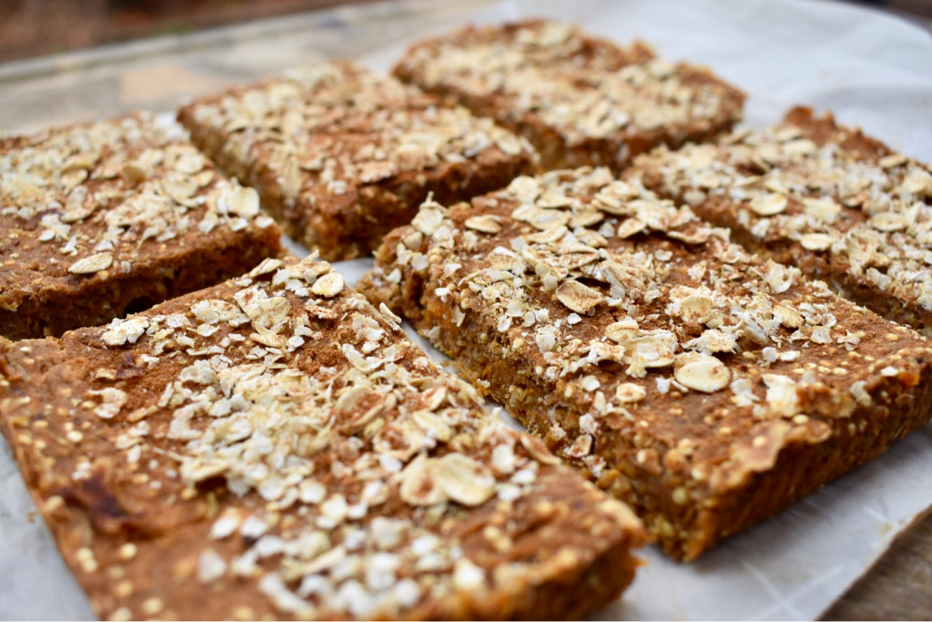 I came up with these low-fat, low-sugar, and high-carb, full of whole plant foods because I needed something like a protein bar to eat before lifting. I needed a portable high-carb snack, without all the added junk you typically find in commercial bars.
