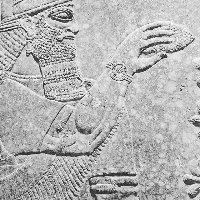 Assyrian gypsum relief circa 883-859 B.C.