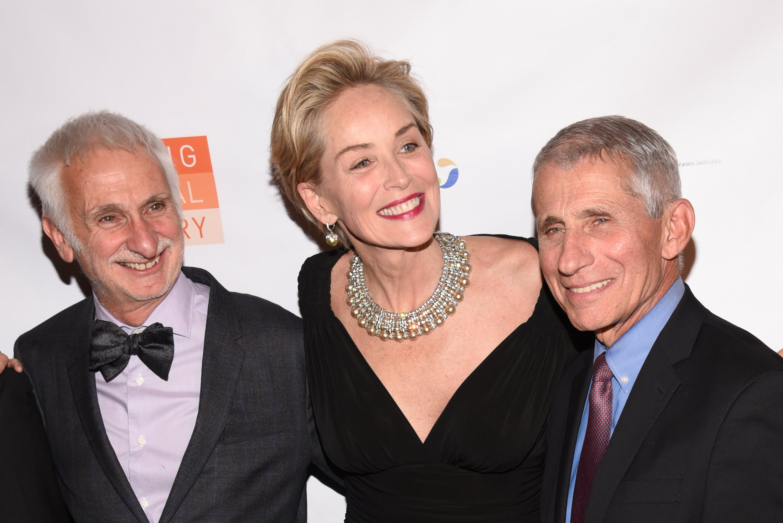 Dr. Bernard Pécoul, Sharon Stone and Dr. Anthony S. Fauci