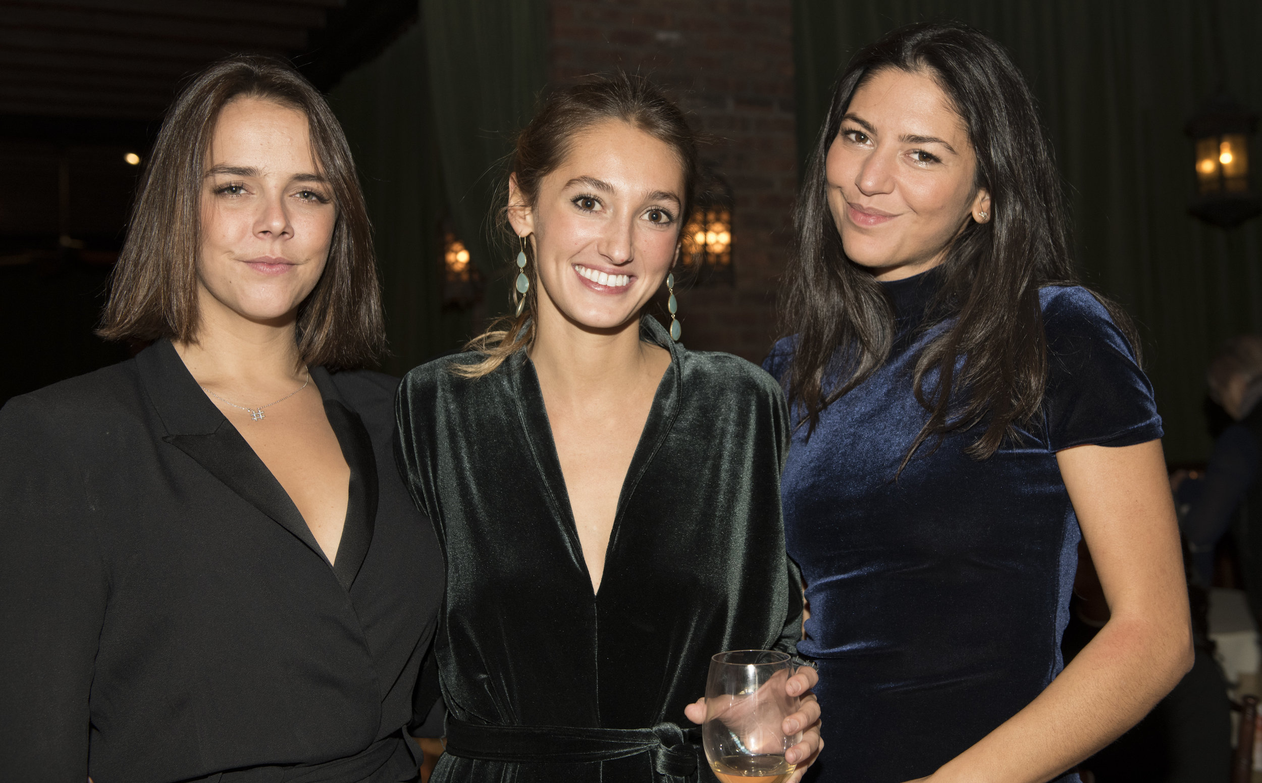 Pauline Ducruet, Julia Pittorino and Schanel Bakkouche
