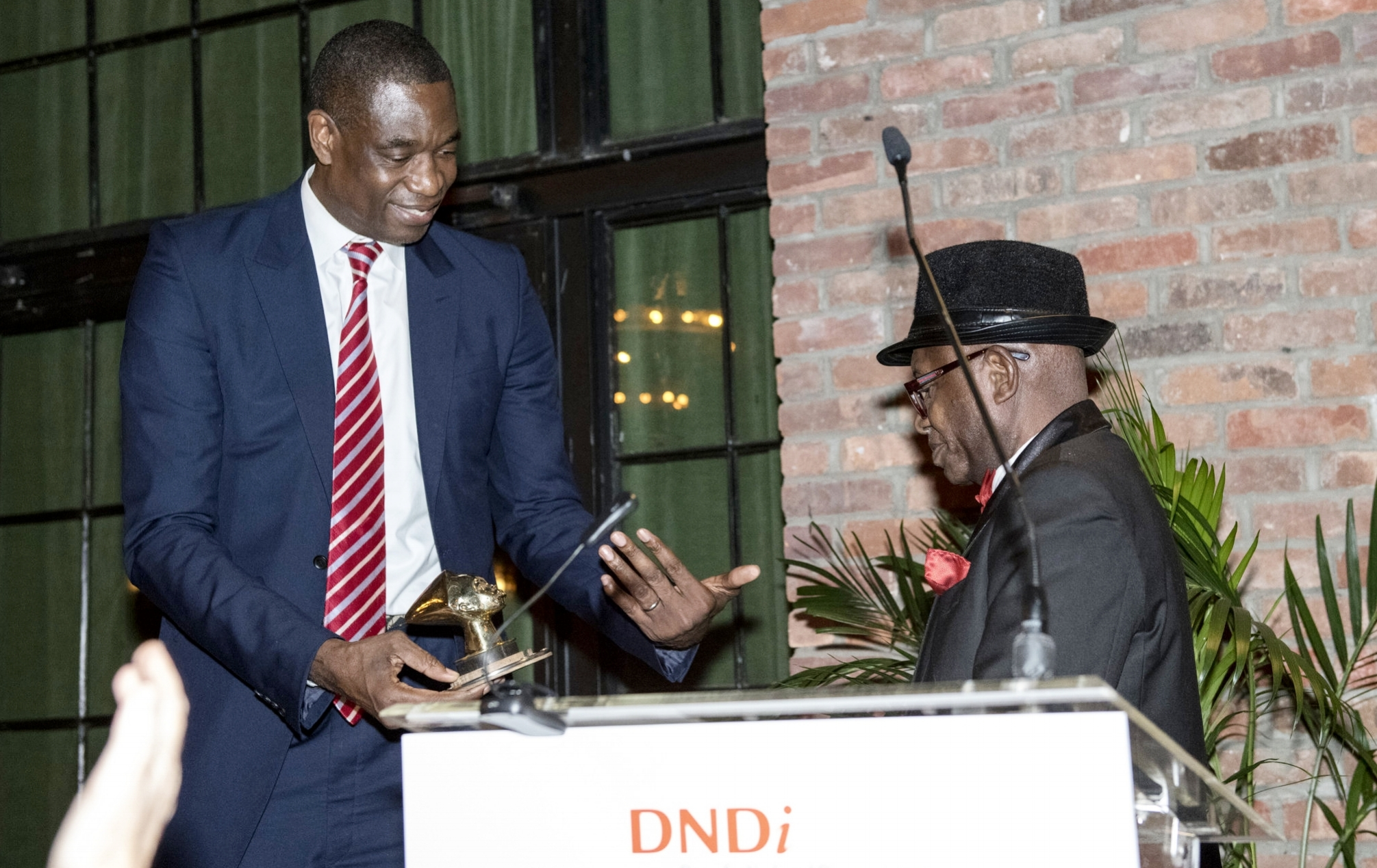 Dikembe Mutombo and Dr. Victor Kande