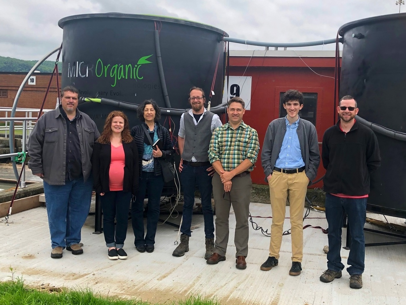 Visit from our funders at MassCEC, plus the plant's Superintendent and Plant Operator - May 30, 2019