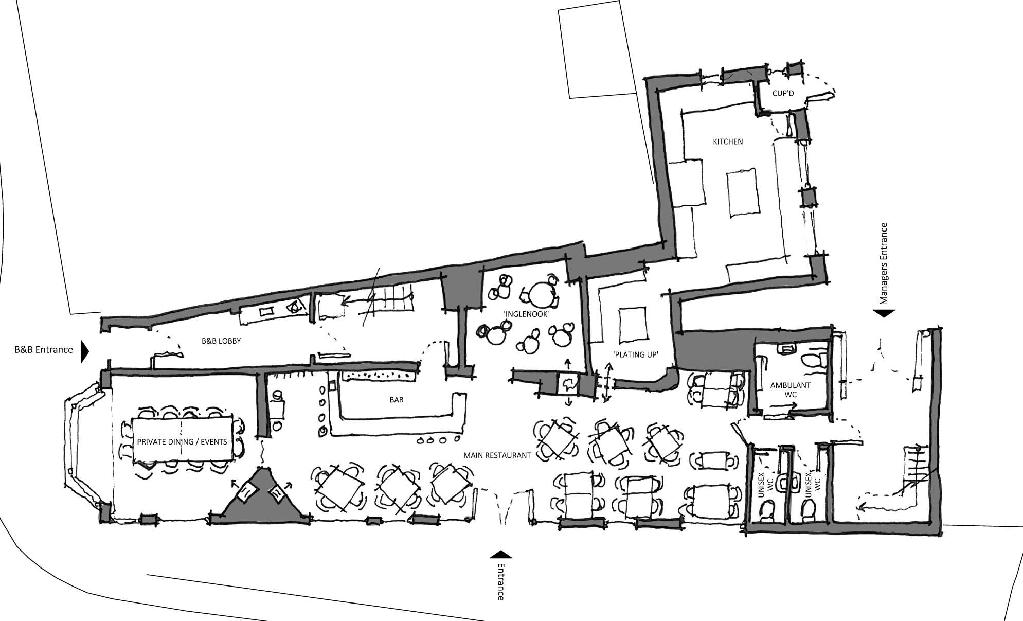 Initial Concept Plan for the Ground Floor