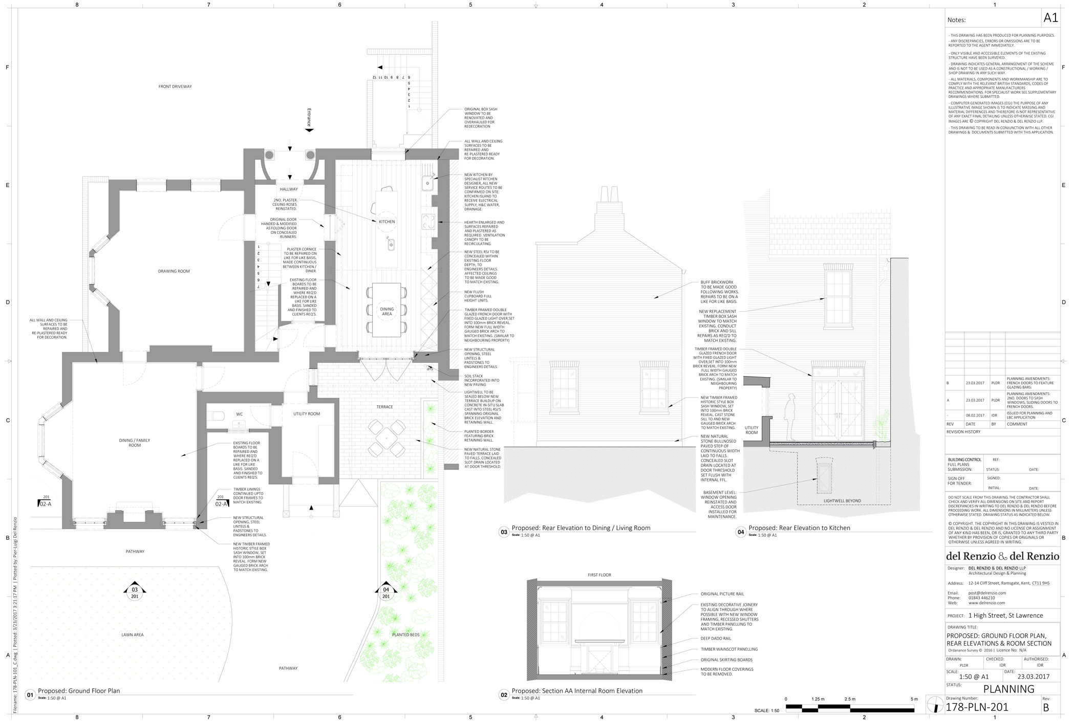 Listed Building Consent for Ground floor.