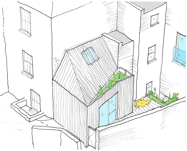 Concept perspective sketch