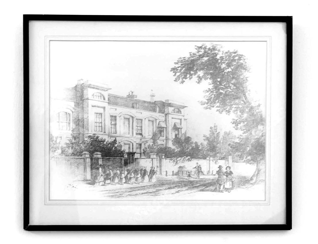 Original historic drawing of property.